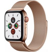 Apple Watch Series 5 GPS + Cellular 44mm Stainless Steel Case with Milanese Loop (Gold) (MWWJ2)