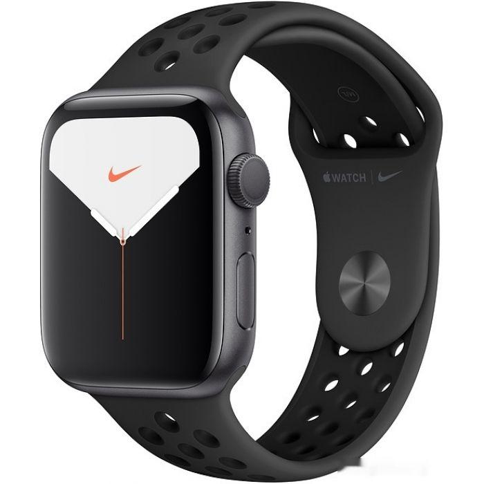 Apple Watch Nike Series 5 44 мм (алюминий черный космос/антрацит) (MX3W2)