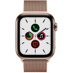 Apple Watch Series 5 Cellular 40 мм (Stainless Steel Case / Gold Milanese Loop) (MWX72)