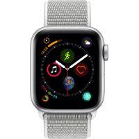 Apple Watch Series 4 Sport 40mm Silver Aluminum Case with Seashell Sport Loop (MU652)