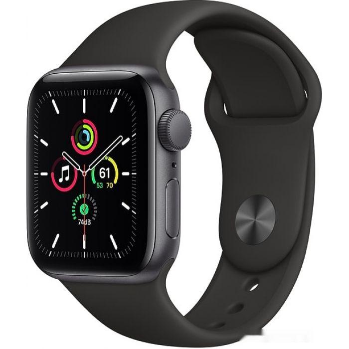 Apple Watch SE 40 мм (алюминий серый космос/черный спортивный) (MYDP2)