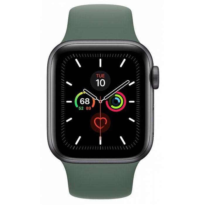 Apple Watch Series 6 40 мм (сталь золотистый/зеленый) (M06V3)