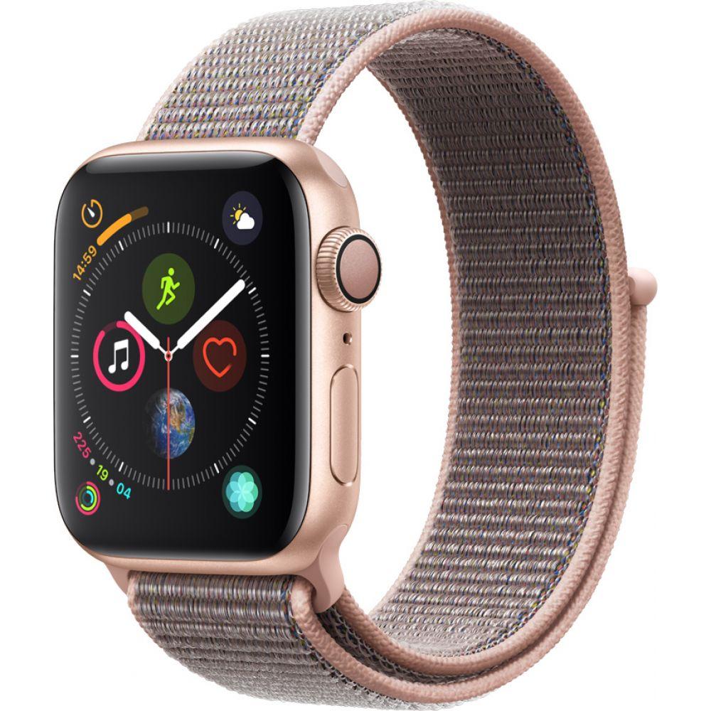 Apple Watch Series 4 Sport 40mm Gold Aluminum Case with Pink Sand Sport Loop (MU692)