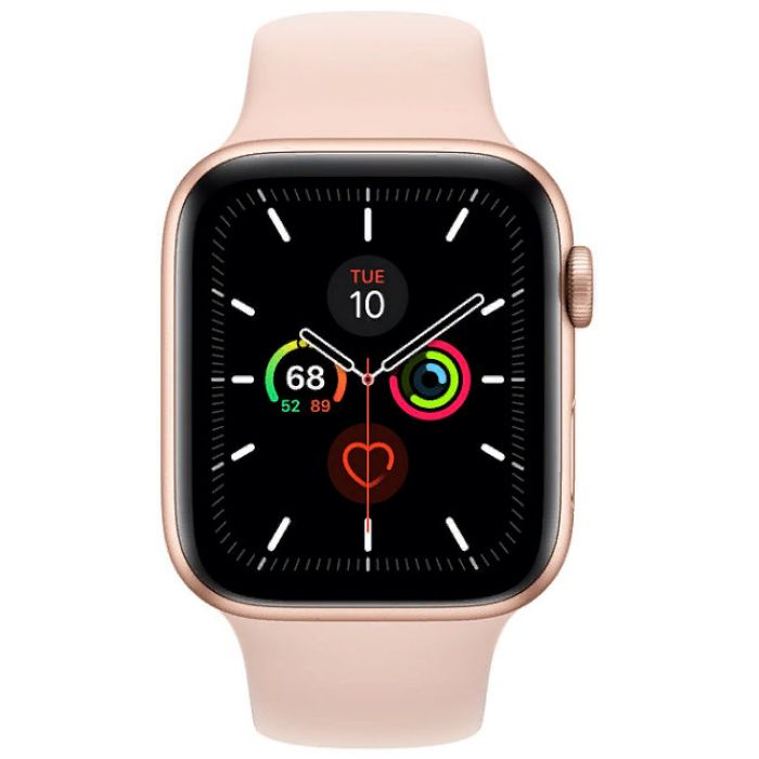 Apple Watch Series 5 GPS + Cellular 44mm Aluminum Case with Sport Band (Pink Gold) (MWWD2)
