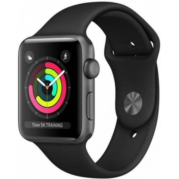 Apple Watch Series 3 38 мм (алюминий серый космос/черный) (MTF02)
