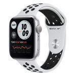 Apple Watch Nike Series 6 44 мм (алюминий серебристый/платиновый спортивный) (MG293)