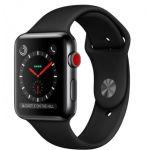 Apple Watch Series 3 LTE 38 мм (сталь черный космос/черный) (MQJW2)