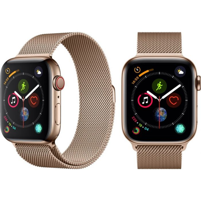 Apple Watch Series 5 40 мм LTE (сталь золотистый) (MWX62)