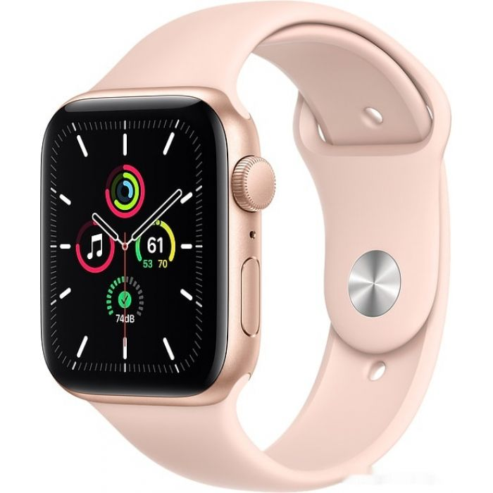 Apple Watch SE 44 мм (алюминий золотистый/розовый песок) (MYDR2)