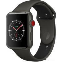 Apple Watch Series 3 LTE 42 мм (серый керамический/черный)(MQM62)