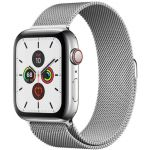 Apple Watch Series 5 GPS + Cellular 44mm Stainless Steel Case with Milanese Loop (Silver) (MWWG2)