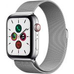 Apple Watch Series 5 Cellular 40 мм (Stainless Steel Case with Silver Milanese Loop) (MWX52)