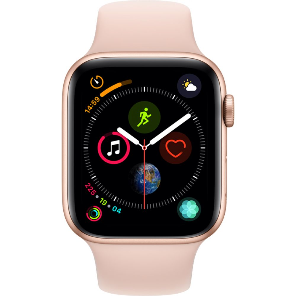 Apple Watch Series 4 Sport 44mm Gold Aluminum Case with Pink Sand Sport Band (MU6F2)