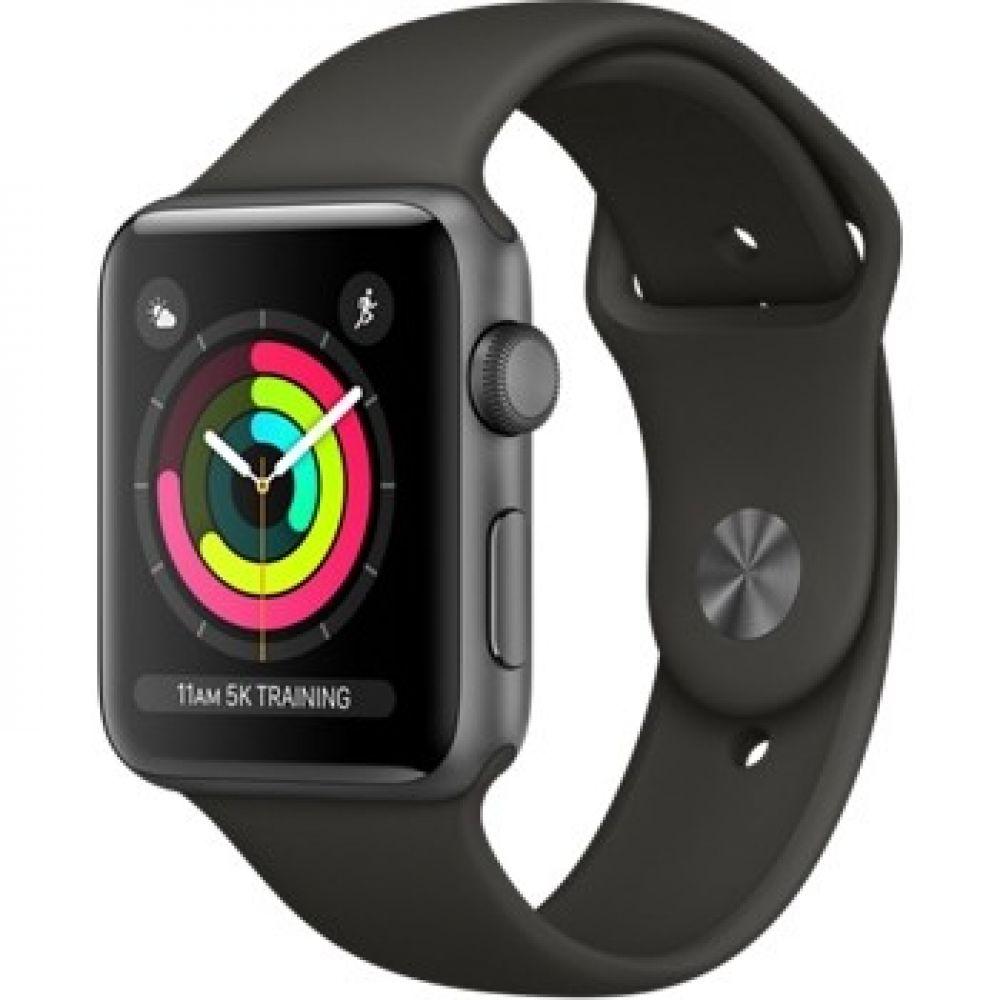 Apple Watch Series 3 42 мм (алюминий серый космос/серый) (MR362)