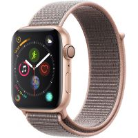 Apple Watch Series 4 Sport 44mm Gold Aluminum Case with Pink Sand Sport Loop (MU6G2)