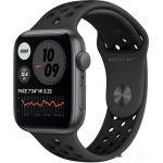 Apple Watch SE Nike 44 мм (алюминий серый космос/антрацитовый, черный) (MYYK2)
