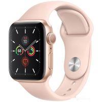 Apple Watch Series 5 40 мм (алюминий золотистый/розовый песок)(MWV72)