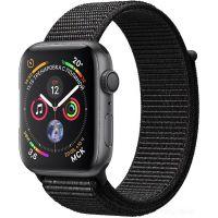 Apple Watch Series 4 44 мм (алюминий серый космос/нейлон черный)(MU6E2)