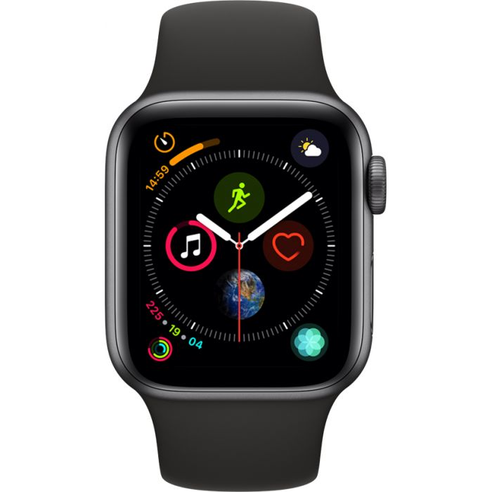 Apple Watch Series 4 Sport 40mm Space Gray Aluminum Case with Black Sport Band (MU662)