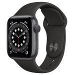 Apple Watch Series 6 40 мм (Алюминий серый космос-Черный спортивный) (MG133)