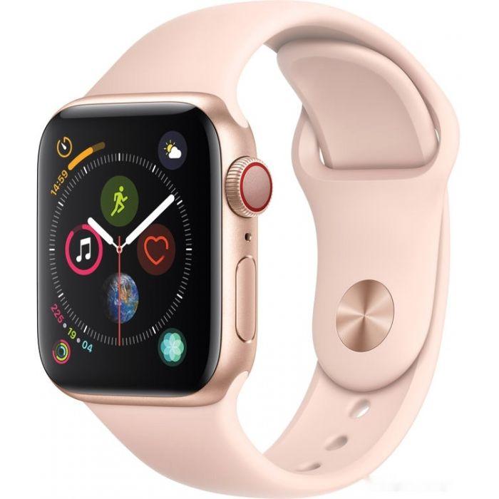 Apple Watch Series 4 LTE 40 мм (алюминий золотистый/розовый песок) (MTUJ2)