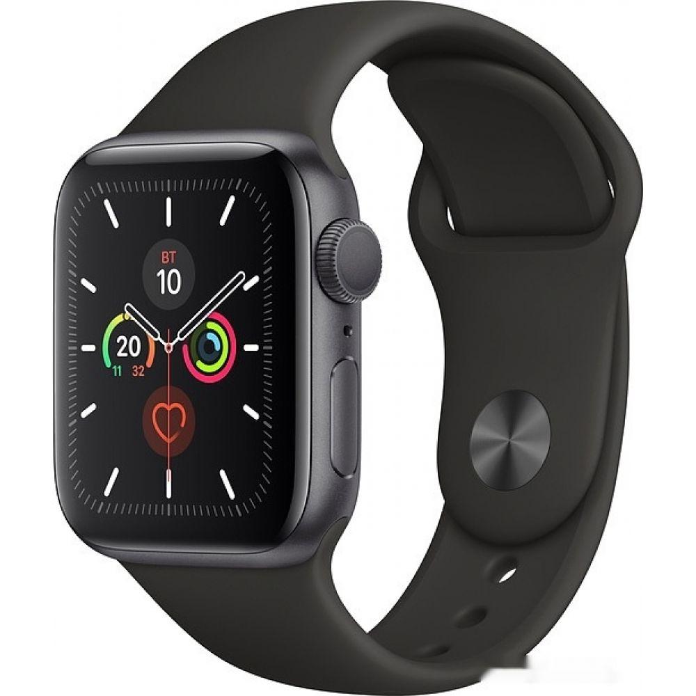 Apple Watch Series 5 40 мм (алюминий серый космос/черный спортивный)(MWV82)
