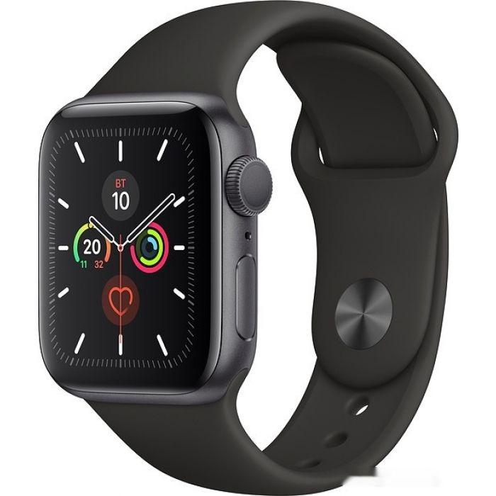 Apple Watch Series 5 40 мм (алюминий серый космос/черный спортивный) (MWV82)