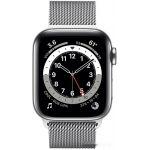 Apple Watch Series 6 LTE 40 мм (сталь серебристый/миланский серебро) (M06U3)