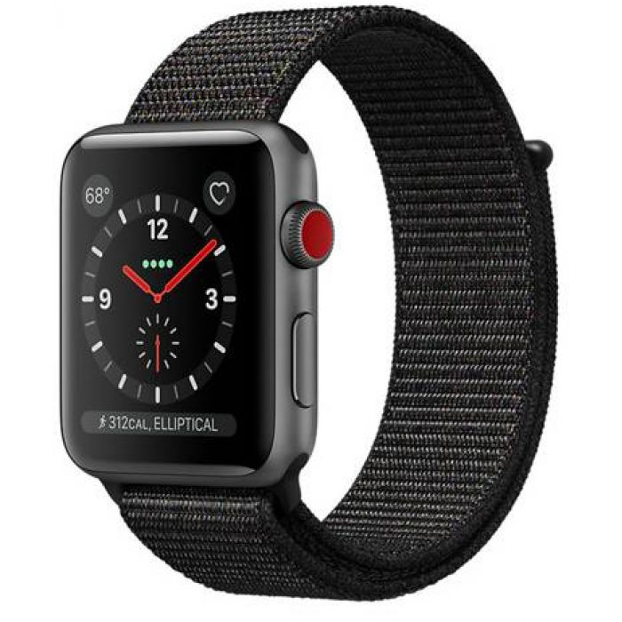 Apple Watch Series 3 42mm GPS+LTE Space Gray Aluminum Case with Gray Sport Band (MTGT2)