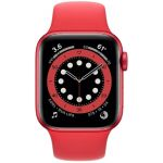 Apple Watch Series 6 44 мм (алюминий красный/красный спортивный) (M00M3)
