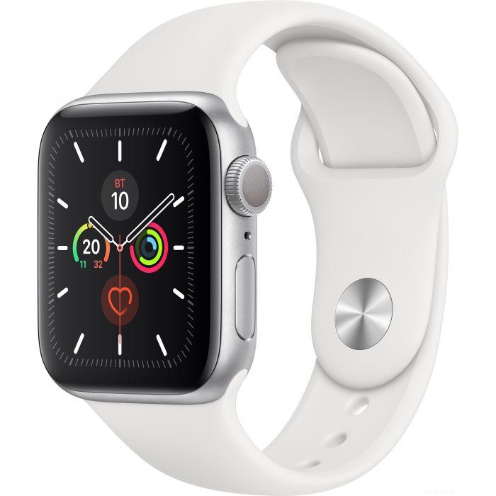 Apple Watch SE 40 мм (алюминий серебристый/белый спортивный) (MYDM2)