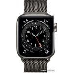 Apple Watch Series 6 LTE 40 мм (сталь графитовый/миланский черный) (M06Y3)
